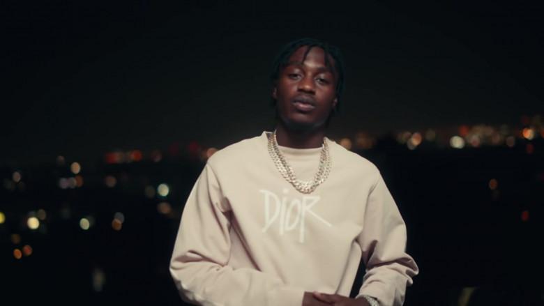 Dior Sweatshirt Outfit of Lil Tjay in 'Mood Swings' by Pop Smoke (5)