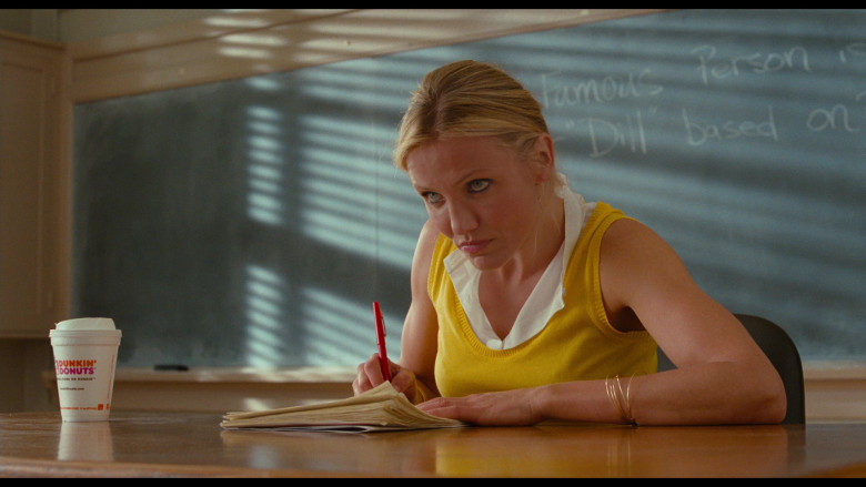 Dunkin' Coffee of Cameron Diaz as Elizabeth Halsey in Bad Teacher (2011)