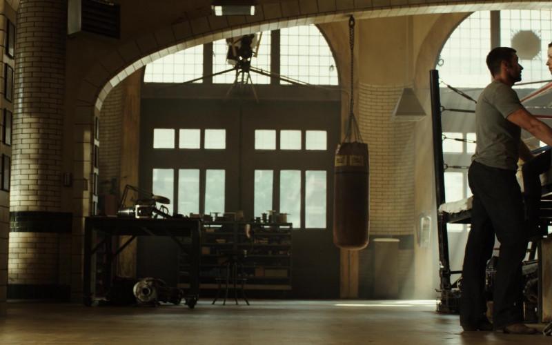 Everlast Punching Bag of Hugh Jackman as Charlie Kenton in Real Steel