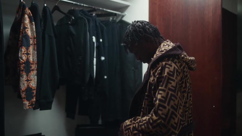 Fendi Coat Fashion Outfit of Lil Tjay in 'Mood Swings' by Pop Smoke (2020)