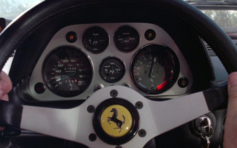 Ferrari Steering Wheel in Cannonball Run II (1984)