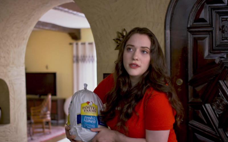 Foster Farms Turkey Held by Kat Dennings as Abby in Friendsgiving (2020)