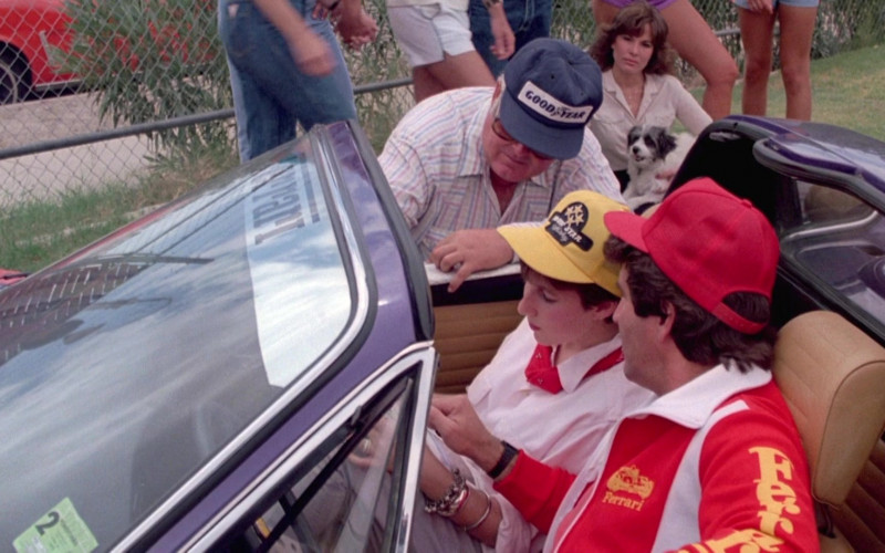 Goodyear Cap and Ferrari Jacket in Cannonball Run II