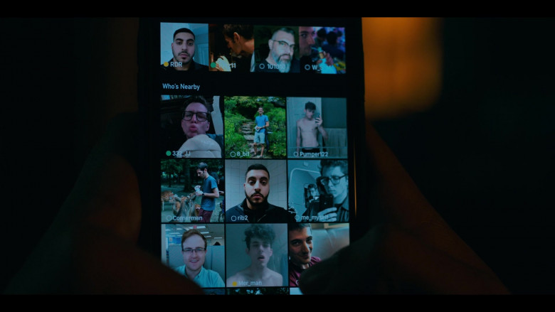Grindr online dating application used by Amir Bageria as Siddhartha 'Sid' Pakam in Grand Army S01E03 (3)