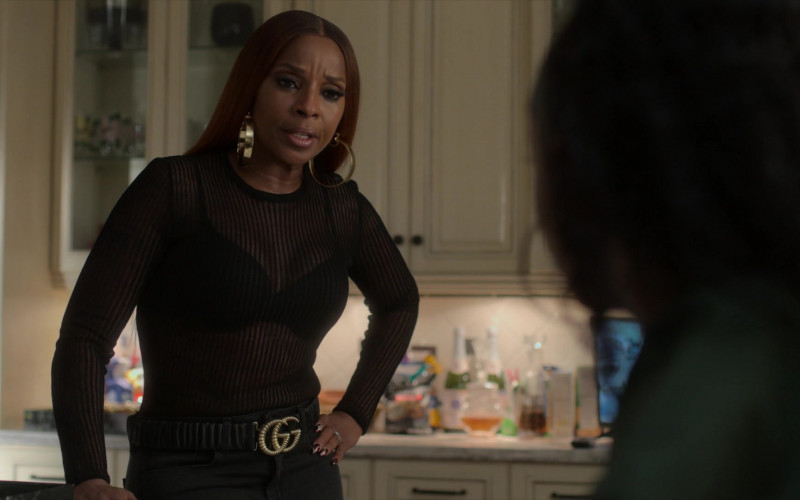 Gucci Belt Fashion Outfit of Mary J. Blige as Monet Stewart Tejada in Power Book 2 Ghost S01E05 TV Show (1)