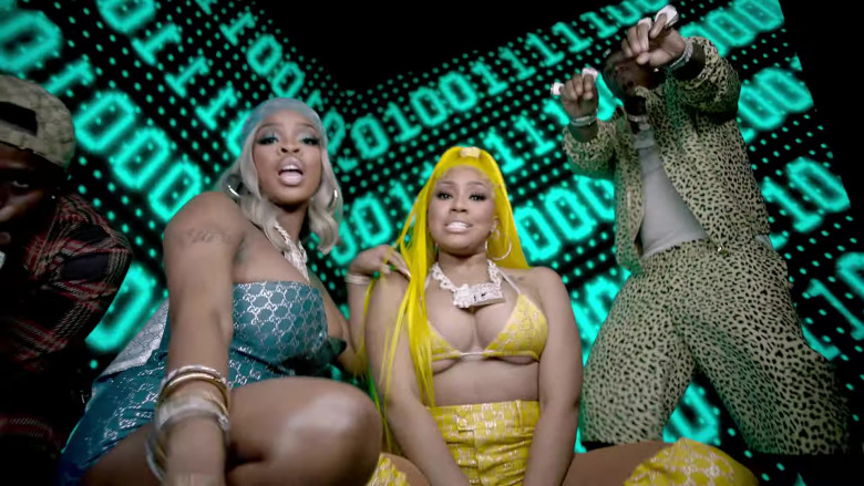 """Gucci Women's Clothes in """"Said Sum"""" Remix by Moneybagg Yo ft. DaBaby & City Girls (3)"""