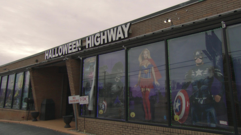 Halloween Highway Costume Store in Borat Subsequent Moviefilm (1)