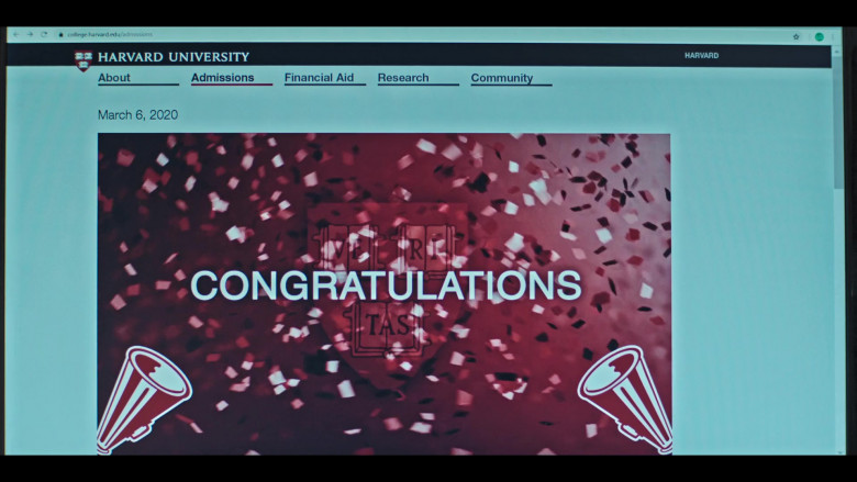 Harvard University Website in Grand Army S01E09 (2)