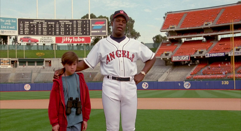 Health Net, Pontiac Firebird, SportsChannel, Bud Light, Starter in Angels in the Outfield (1994)