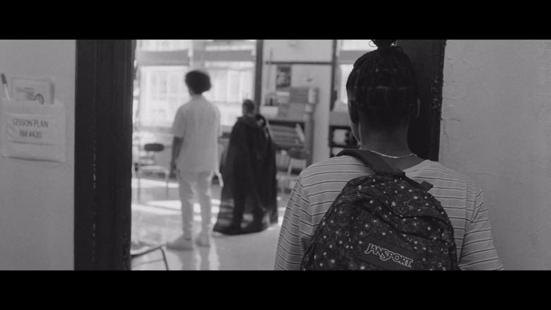 JanSport Backpack of Imani Lewis as Elaine in The Forty-Year-Old Version (2)