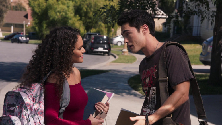 JanSport Trans Floral Print Backpack of Madison Pettis as Annie in American Pie Presents Girls' Rules (1)