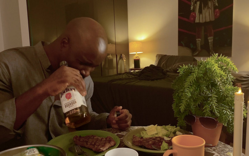 Jim Beam Bourbon Enjoyed by Mike Colter in Social Distance S01E01