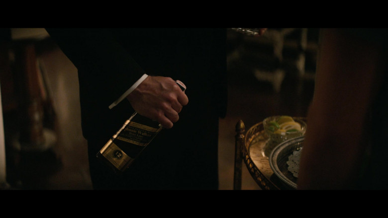 Johnnie Walker Black Label Whisky Bottle Held by Brian Hutchison as Alan in The Boys in the Band (2020)