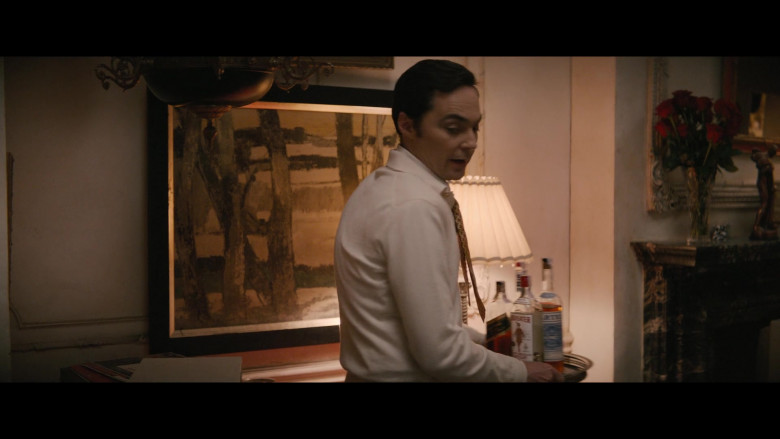 Johnnie Walker Whisky and Beefeater Gin Held by Jim Parsons as Michael in The Boys in the Band (2020)