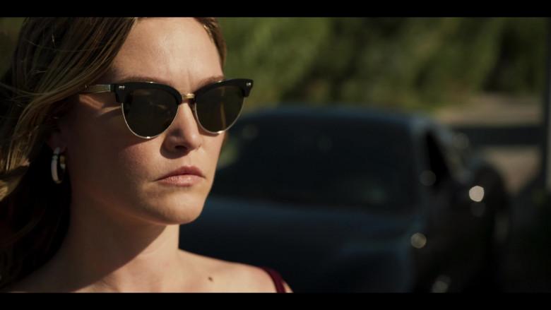 Julia Stiles as Georgina Marjorie Clios Wears Gucci Cat-Eye Frame Sunglasses in Riviera S03E03 TV Show