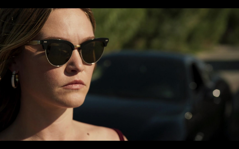 Julia Stiles as Georgina Marjorie Clios Wears Gucci Cat-Eye Frame Sunglasses in Riviera S03E03 TV Show