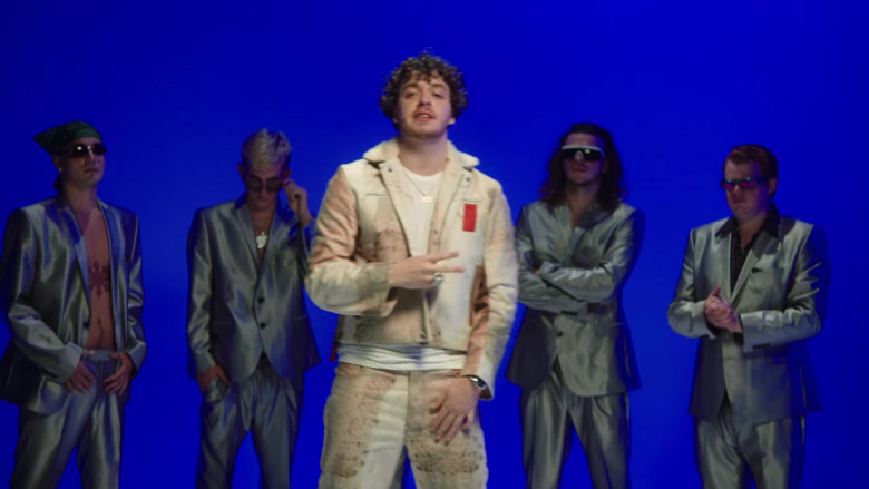 KOBF (Kids Of Broken Future) Leather Jacket and Pants Outfit of Jack Harlow (2)