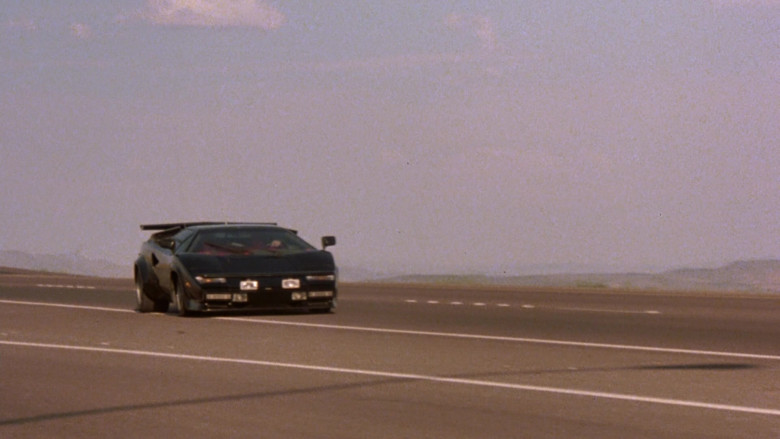 Lamborghini Countach LP 400 S Black Sports Car in The Cannonball Run (1)