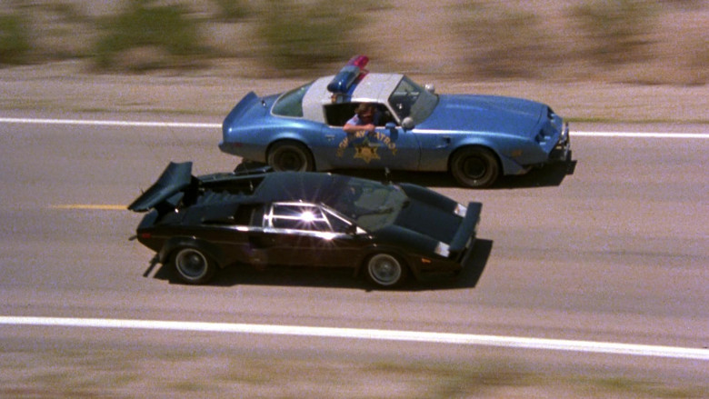 Lamborghini Countach LP 400 S Black Sports Car in The Cannonball Run (3)