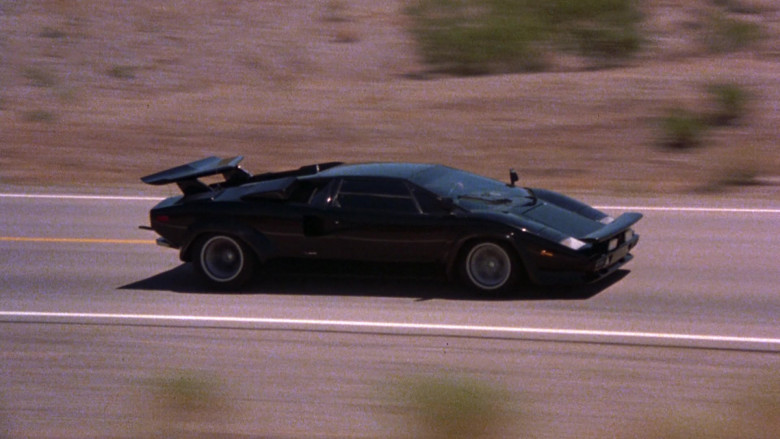 Lamborghini Countach LP 400 S Black Sports Car in The Cannonball Run (4)
