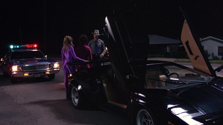 Lamborghini Countach LP 400 S Black Sports Car in The Cannonball Run (5)