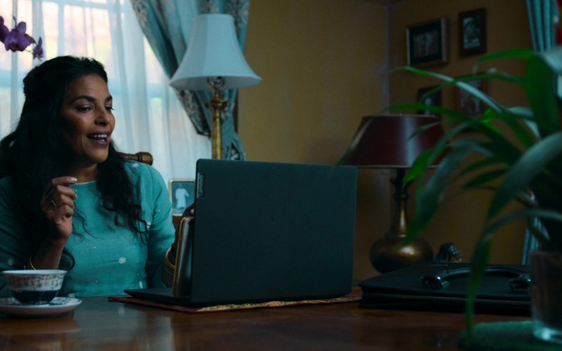 Lenovo Laptop of Sarita Choudhury as Usha in Evil Eye (2020)