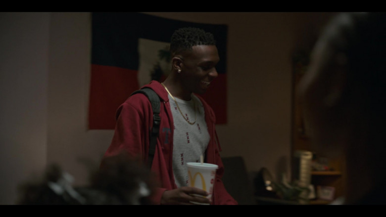 McDonald's Drink Held by Alphonso Romero Jones II as John Ellis in Grand Army S01E06