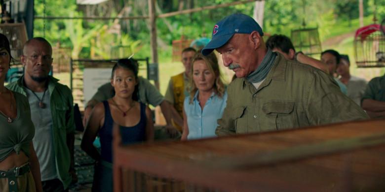 Michael Gross as Burt Gummer Wears '47 Blue Cap x Chicago Cubs Logo of in Tremors Shrieker Island Film (1)