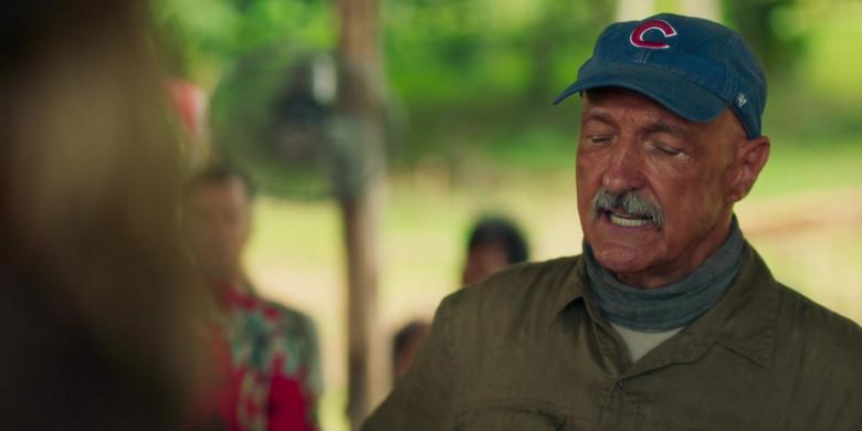 Michael Gross as Burt Gummer Wears '47 Blue Cap x Chicago Cubs Logo of in Tremors Shrieker Island Film (2)
