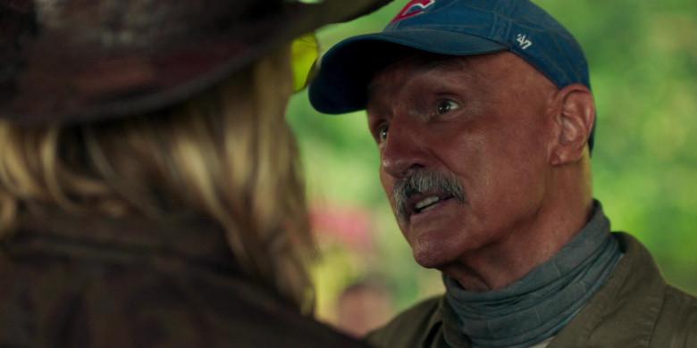 Michael Gross as Burt Gummer Wears '47 Blue Cap x Chicago Cubs Logo of in Tremors Shrieker Island Film (3)