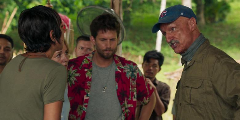 Michael Gross as Burt Gummer Wears '47 Blue Cap x Chicago Cubs Logo of in Tremors Shrieker Island Film (4)