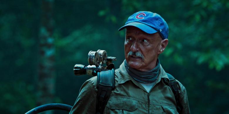Michael Gross as Burt Gummer Wears '47 Blue Cap x Chicago Cubs Logo of in Tremors Shrieker Island Film (6)