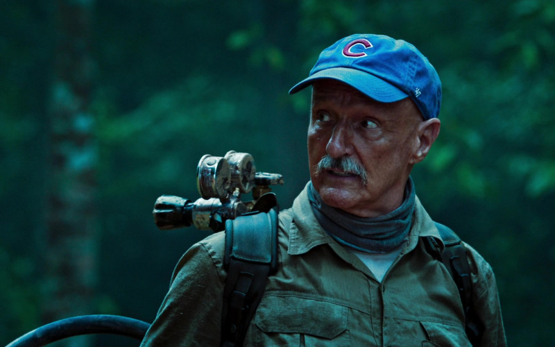 Michael Gross as Burt Gummer Wears '47 Blue Cap x Chicago Cubs Logo of in Tremors Shrieker Island Film (6)
