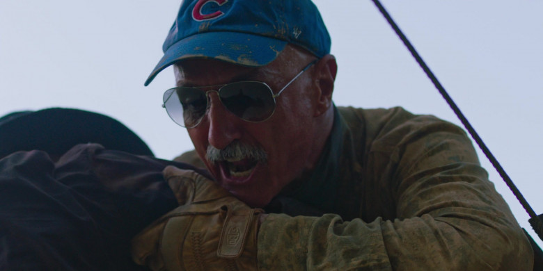 Michael Gross as Burt Gummer Wears Deus Ex Machina Gloves in Tremors Shrieker Island Movie (1)
