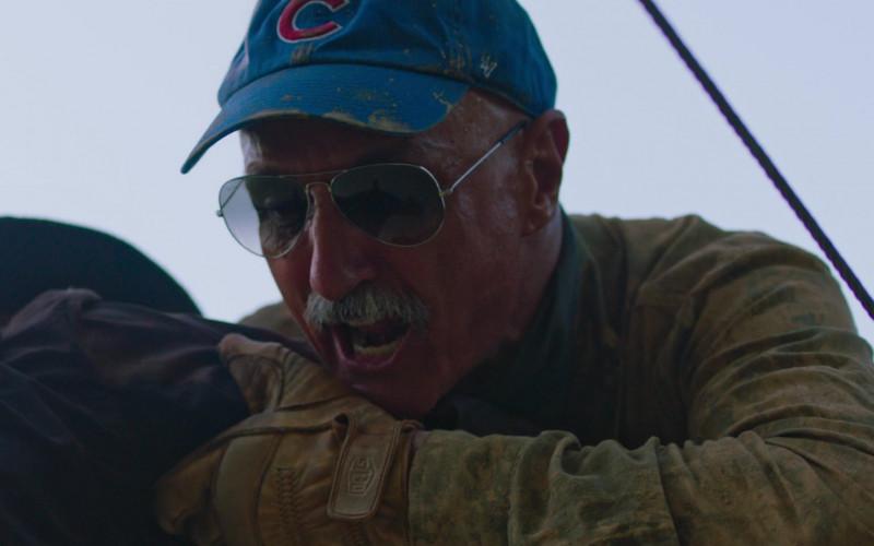 Michael Gross as Burt Gummer Wears Deus Ex Machina Gloves in Tremors Shrieker Island Movie (1)