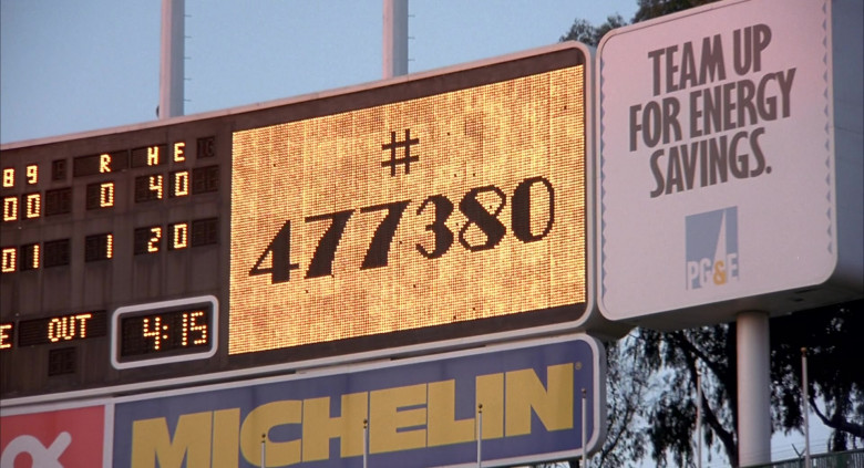 Michelin and The Pacific Gas and Electric Company (PG&E) in Angels in the Outfield (1994)