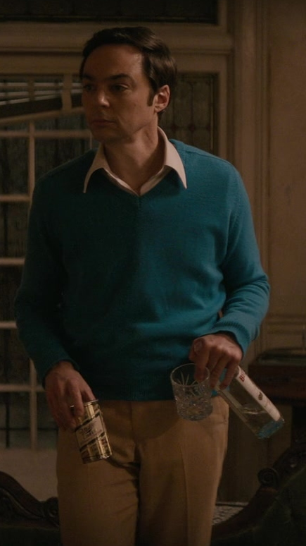 Miller Beer Can Held by Jim Parsons as Michael in The Boys in the Band (2020)