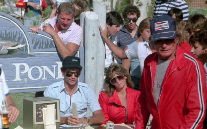 Miller Lite Beer and Champion Cap in Cannonball Run II (1984)