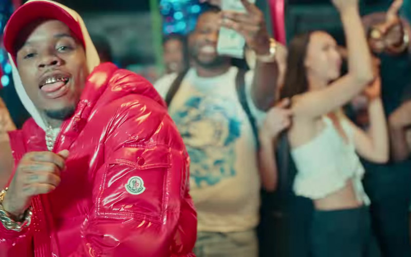 Moncler Red Down Jacket of Tory Lanez in Most High (2020)