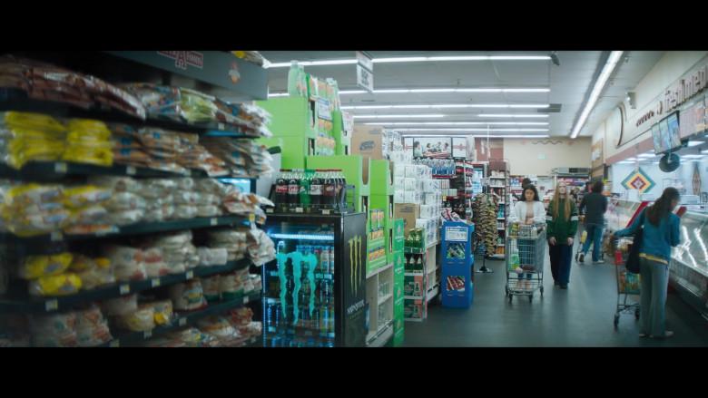 Monster Energy Refrigerator, Coca-Cola and Dr Pepper Sodas in Kajillionaire (2020)