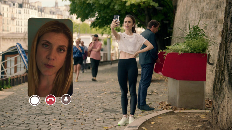 Nike Air Zoom Pegasus White Sneakers of Lily Collins in Emily in Paris S01E03 Sexy or Sexist