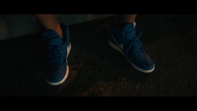 Nike Dunk Blue Sneakers of Gregory Diaz IV as Luis Acosta in Vampires vs. the Bronx (1)