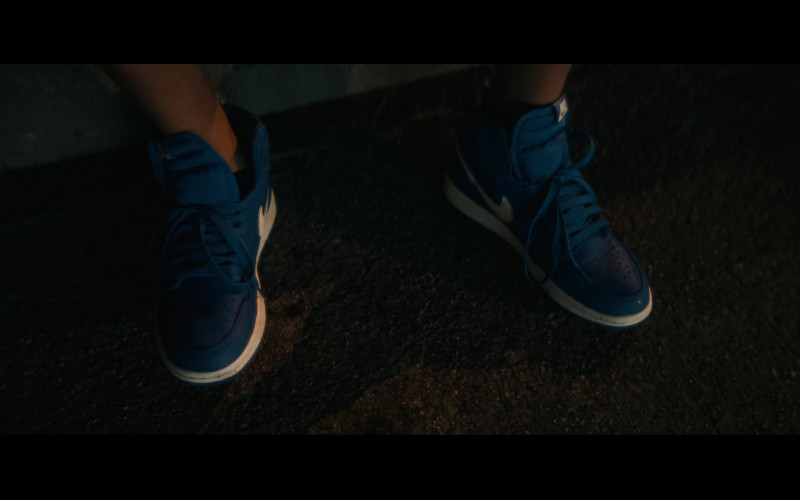 Nike Dunk Blue Sneakers of Gregory Diaz IV as Luis Acosta in Vampires vs. the Bronx (1)