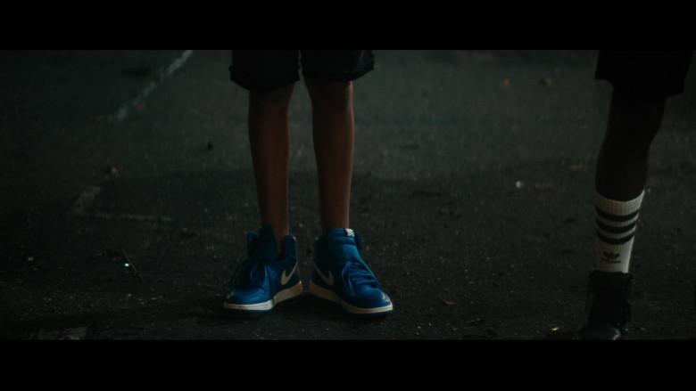 Nike Dunk Blue Sneakers of Gregory Diaz IV as Luis Acosta in Vampires vs. the Bronx (2)