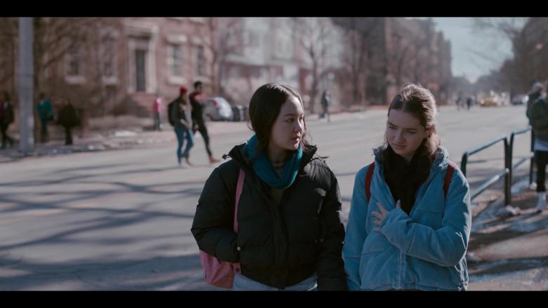 Nike Jacket of Amalia Yoo as Leila Kwan Zimmer in Grand Army S01E02 (2)