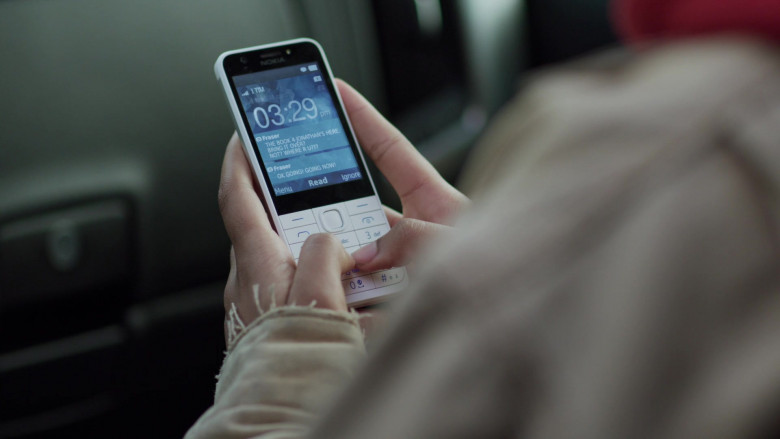 Nokia 230 White Phone of Jordan Kristine Seamón in We Are Who We Are S01E06 TV Series (1)