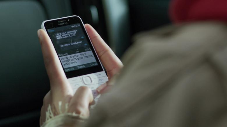 Nokia 230 White Phone of Jordan Kristine Seamón in We Are Who We Are S01E06 TV Series (2)