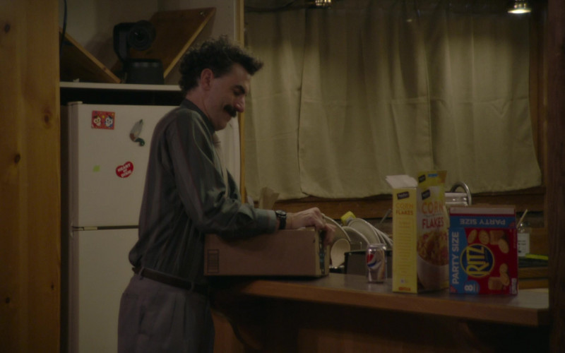Pepsi Soda Can, Signature Select Corn Flakes and Ritz Crackers in Borat Subsequent Moviefilm (2020)