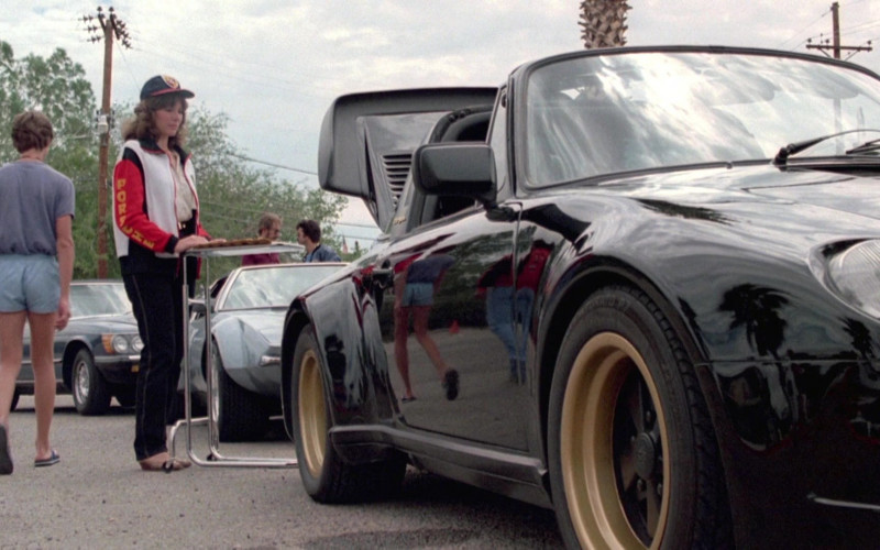 Porsche Women's Outfit and Sports Car in Cannonball Run II