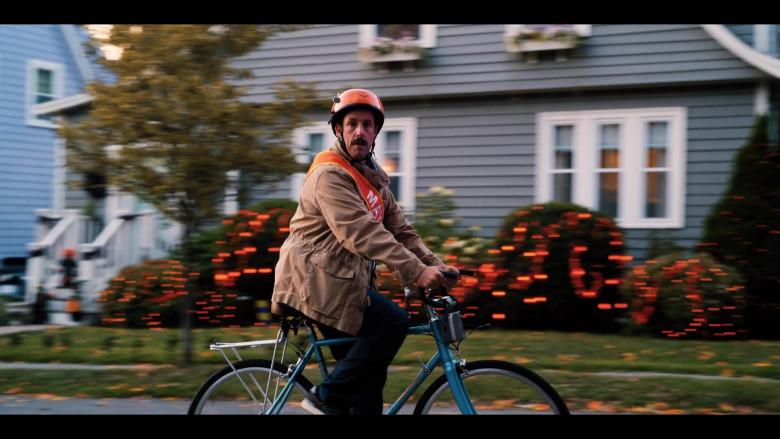 Raleigh Bicycle of Adam Sandler as Hubie Dubois in Hubie Halloween Movie by Netflix (4)